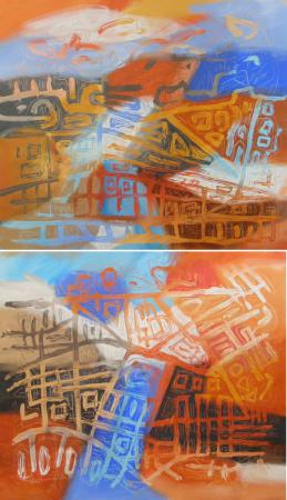 Barcelona II, diptych by Jacqueline Unanue